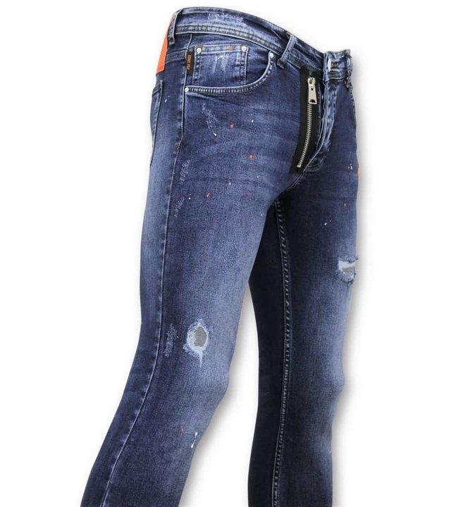 True Rise Tough Jeans Farbe Drops - Skinny Fit Men - A18D - Blau
