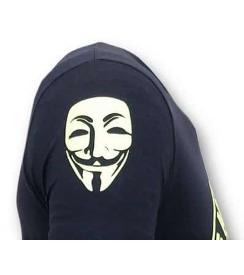 Local Fanatic Exklusive Männer T Shirt - We Are Anonymous  - Blau
