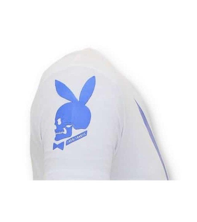 Local Fanatic Exklusives Männer T-Shirt - Destroyed Playtoy Mansion  -  Weiß