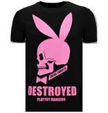 Local Fanatic Exklusives T-Shirt - Destroyed Playtoy Mansion  - Schwarz
