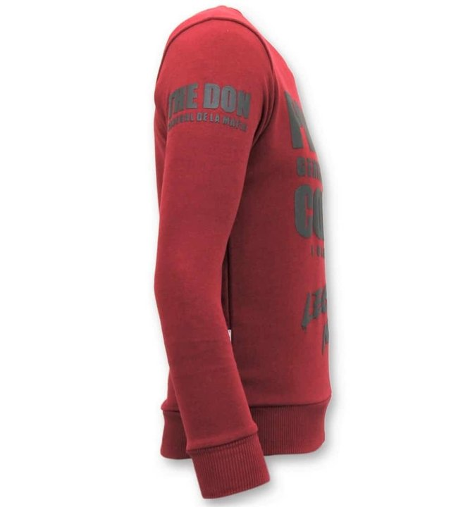 Local Fanatic Tough Men Sweater - Padrino Corleone - Rot