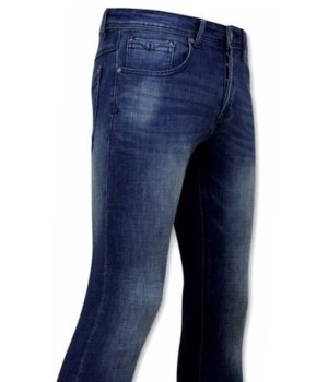 True Rise Jeans Herren Stretch - D-3058 - Blau