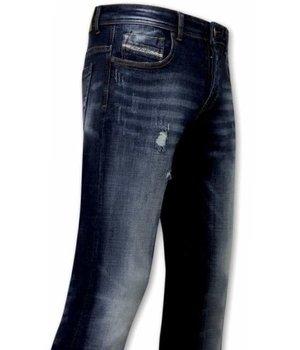 True Rise Stretch Jeans Für Männer - A-11016 - Blau