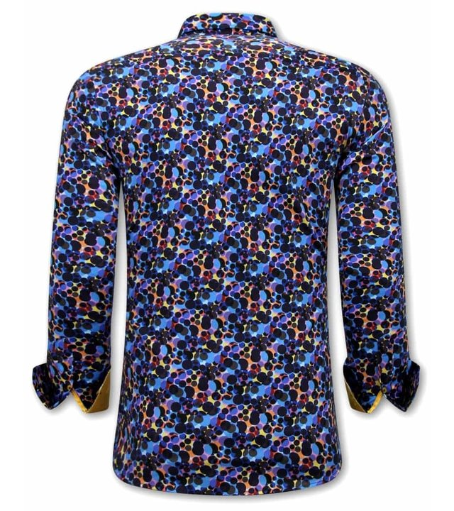 Gentile Bellini  Luxus Paisley Herren Hemden - 3072 - Gelb/Blau