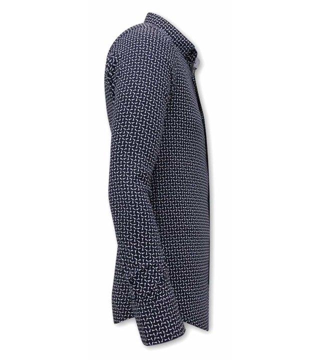 Gentile Bellini Bedruckte Hemden Herren - 3077 - Blau