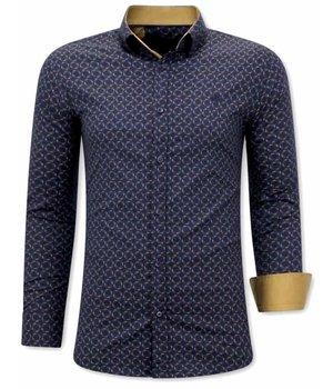 Gentile Bellini Herren Business Hemden - 3076 - Blau