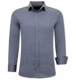 Gentile Bellini Luxus Klassische Herrenhemden - Slim Fit - 3080 - Grau