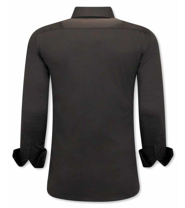 Gentile Bellini Luxus Klassische Herrenhemden - Slim Fit - 3084 - Braun