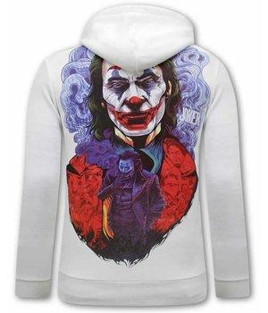 Tony Backer Männer Hoodie Joker - Weiß