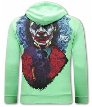 Tony Backer Männer Hoodie Joker - Grün