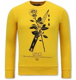 Tony Backer Anonymous Männer Sweatshirt  - Gelb