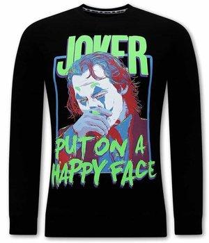 Tony Backer Joker Männer Sweatshirt - Schwarz
