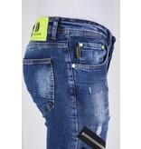 True Rise Skinny Jeans mit Rissen Herren - 5301B - blau