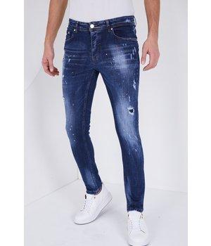 True Rise Herren jeans slim fit destroyed - 5301 - blau