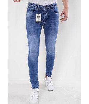 True Rise Slim fit Hosen männer-5307-Blau