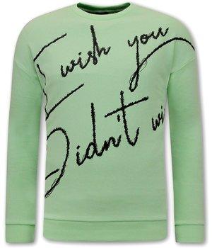 Tony Backer Pullover mit Druck  - Grün