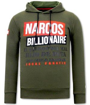 Local Fanatic Hoodie Herren Narcos Billionaire  - Grün