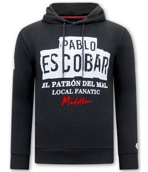 Local Fanatic Pablo Escobar Männer Hoodie - Schwarz