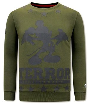 Local Fanatic Terror Mouse Sweatshirt Männer - Grün