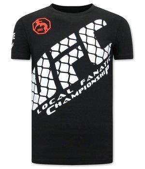 Local Fanatic Herren T Shirts mit print- UFC - Schwarz