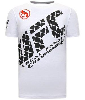 Local Fanatic Herren T Shirts mit print- UFC - Weiß