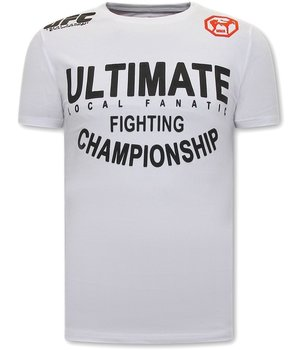 Local Fanatic UFC Ultimate T Shirt Männer - Weiß