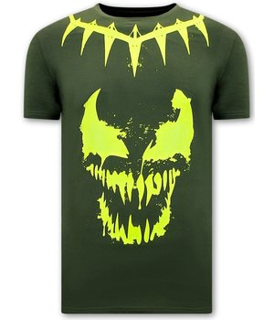 Local Fanatic Totenkopf shirt Herren Venom Face Neon  - Grün