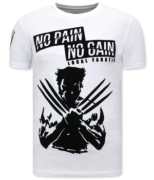 Local Fanatic T Shirt mit Aufdruck Wolverine  X Man - Weiß