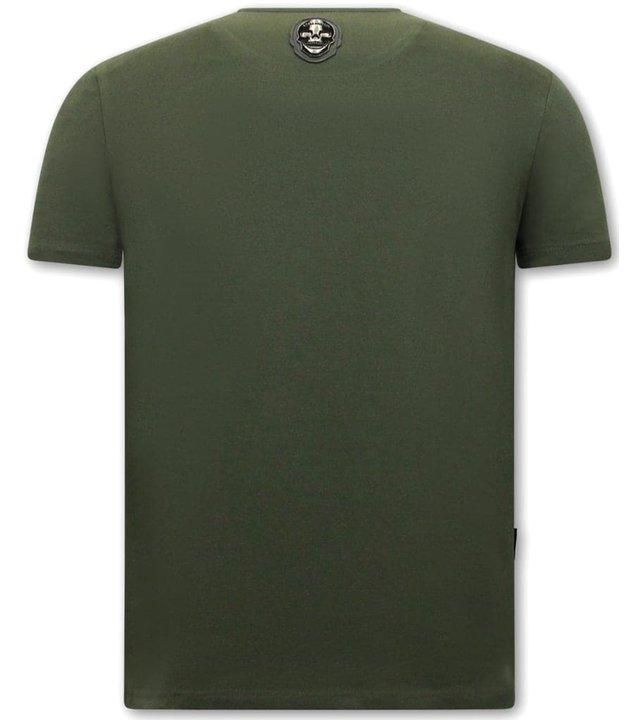 Local Fanatic El Narco Herren T shirts mit print -  Grün