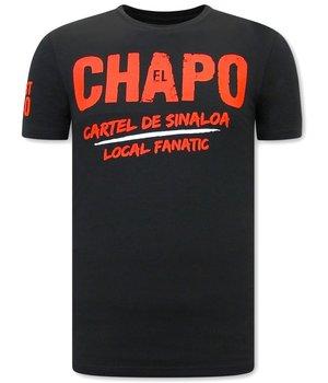 Local Fanatic EL Chapo Herren T shirt - Schwarz