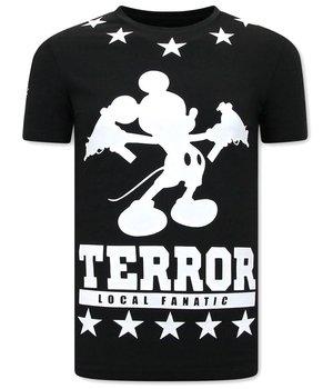 Local Fanatic Terror Mouse T shirt Männer - Schwarz