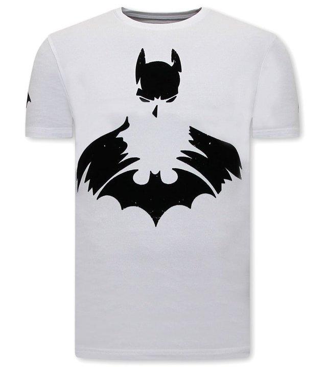 Local Fanatic T shirt Männer Batman Print - Weiß