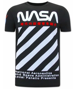 Local Fanatic NASA T Shirt Herren - Schwarz