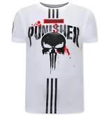 Local Fanatic Punisher T Shirt Herren - Weiß