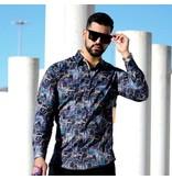 Gentile Bellini Luxus Herren Hemden - 3067 - Gelb / Schwarz