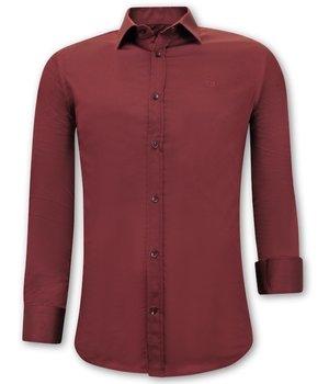 Gentile Bellini Luxus Klassische Herrenhemden - Slim Fit - 3072 - Bordeaux