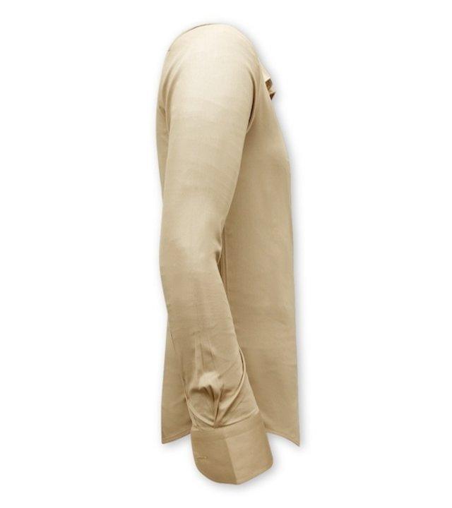 Gentile Bellini Luxus Klassische Herrenhemden - Slim Fit - 3070 - Beige