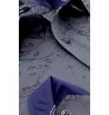 Gentile Bellini Exklusive Herrenhemden - Digital Print Exklusiv - 3066 - Blau