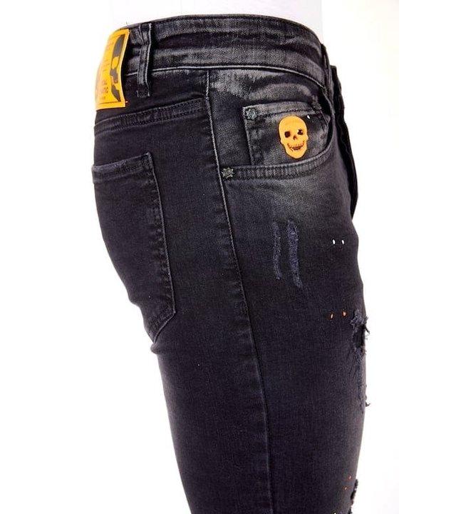 Local Fanatic Luxes Schwarze jeans mit löchern männer - 1028 - Schwarz