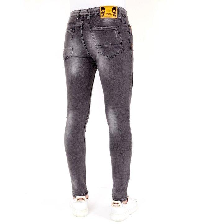 Local Fanatic Luxus Slim Fit Jeans Grau Herren - 1034 - Grau