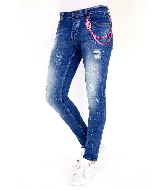 Local Fanatic Luxus Denim Jeans Herren Slim fit - 1036 - Blau