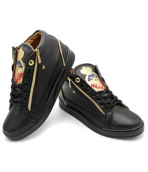 Cash Money Sneaker Herren Prince Full Black - CMS98 - Schwarz