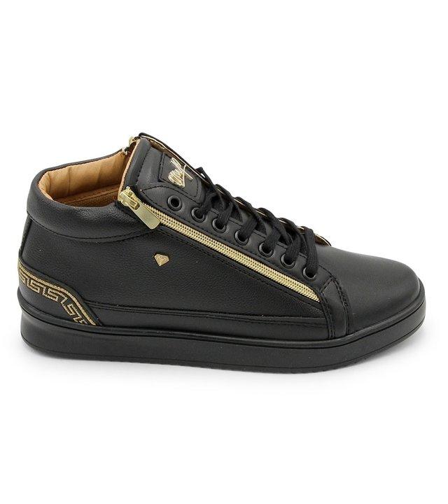 Cash Money Coole Männer Sneaker Cesar Full Black - CMS98 - Schwarz