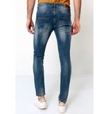 True Rise Destroyed Jeans Herren - D-3092 - Blau