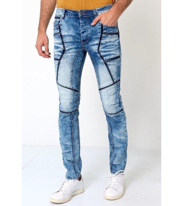 True Rise Ausgefallene Jeans Männer - W6002 - Blau