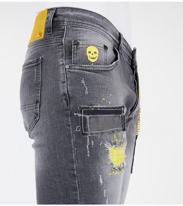 Local Fanatic Kurze Jeans Shorts Herren - 1053 - Grau