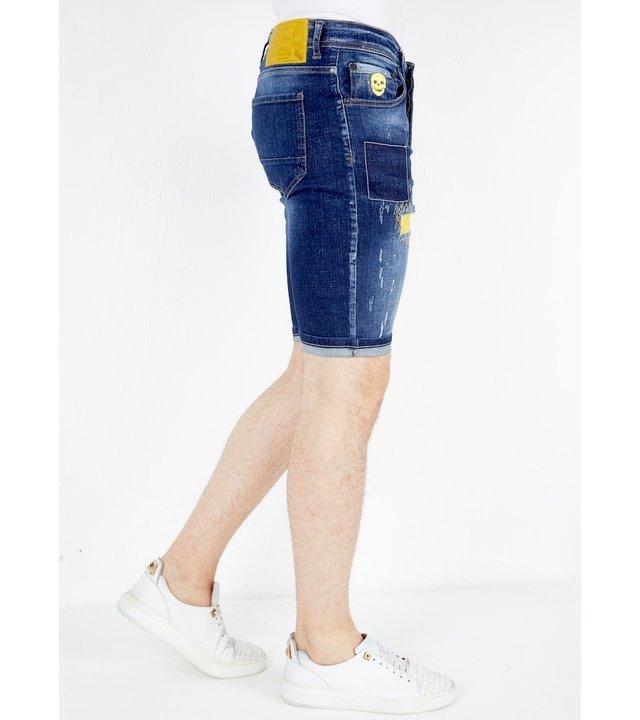 Local Fanatic Herren kurze Jeans - 1052 - Blau