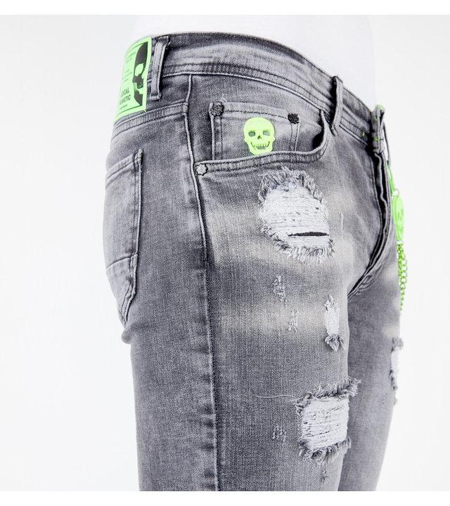 Local Fanatic Kurze Jeanshosen Für Männer - 1047 - Grau