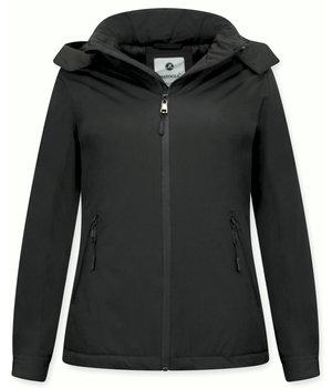 Beluomo Damen Short Winterjacke - Slim Fit  - schwarz