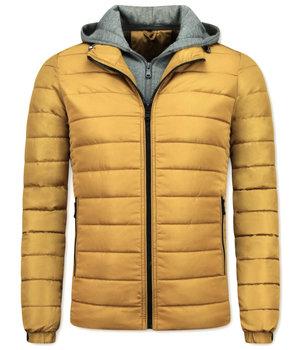 Enos Kurze Winterjacke Männer - Gelbe Jacke - Gelb